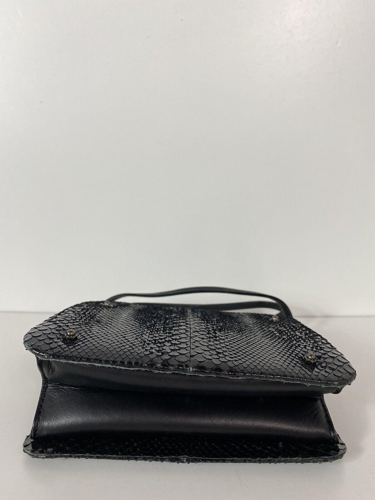 RARE VTG ALEXANDER McQUEEN 90s BLACK SNAKE BAG - image 5