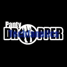 2Pcs Panty Dropper Funny JDM Car Laptop Vinyl Decal Joke Illest Stickers WHITE