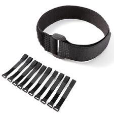 10er Set Kabelbinder Klettband Klettkabelbinder Schlaufenband mit Öse 2*20cm