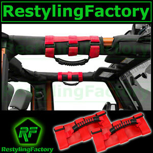 Deluxe-Extreme-RED-Roll-Bar-Grab-Handle-for-77-16-Jeep-Wrangler-JK-TJ-YJ-CJ