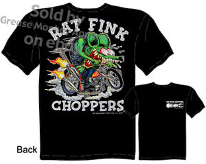 Rat-Fink-Choppers-T-shirt-Big-Daddy-Shirt-Ed-Roth-Apparel-Tee-Sz-M-L-XL-2XL-3XL