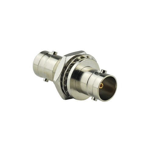 10-PCS BNC Female to BNC Female Bulkhead 75Ohm 3G HD SDI Cable Connector Adapter