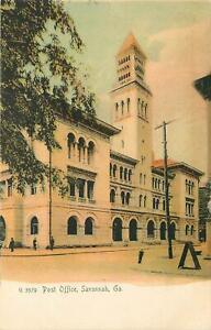 Georgia-GA-Savannah-Post-Office-UDB-Pre-1907-Postcard