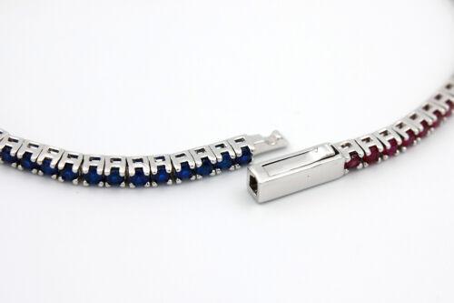 Nuovo Bracciale Tennis Ghiera GMT Pepsi Elegant Zirconi Naturali Unisex Bracelet