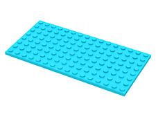 LEGO PLAQUE PLATE 8x4 BLEU CLAIRE