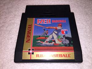 R.B.I. Baseball Tengen (Nintendo NES, 1988) BLACK Game Cartridge Excellent!