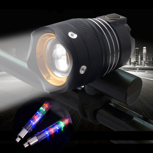 USB Rechargeable Road MTB Bicycle Night Riding Highlight T6 LED 3Mode Front Lamp