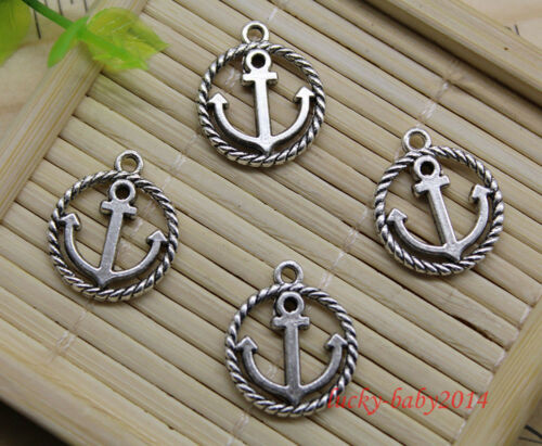 20//60//100pcs retro Jewelry Making DIY anchor alloy charms pendant 18x15mm