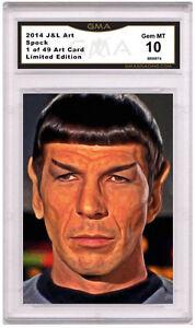 Leonard Nimoy Spock 1 of 49 Art Card Gem MT 10 Artist Autograph Star Trek