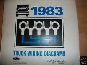 1983 Ford Ranger Bronco Ii Wiring Diagrams Manual Set