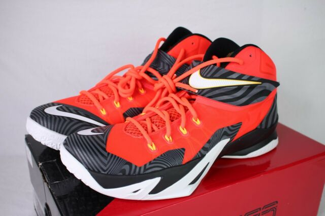 5acf355fa63a1 Nike Zoom Lebron Soldier VIII Premium Basketball Shoes (688579-610) Size 12