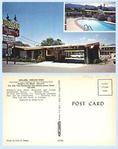 Knights-Inn-Motel-Ashland-Oregon-Retro-Advertising-Postcard-Autos-Pool-Signage