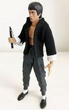"NOX-BLJ: FIGLot fabric Mandarin Jacket for 6"" Figma, Bandai SHF Bruce Lee Figure"