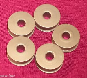 5 ALUMINIUM INDUSTRIAL SEWING MACHINE BOBBINS FITS BROTHER JUKI