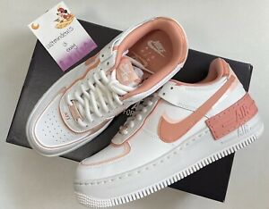 Details about Nike Air Force 1 Shadow Womens Sz 6-7.5 White Coral Pink  Quartz CJ1641-101 2 DAY