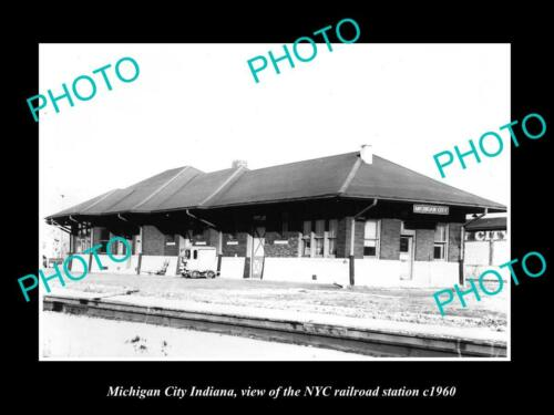 OLD 6 X 4 HISTORIC PHOTO OF MICHIGAN CITY INDIANA NYC RAILROAD STATION c1960