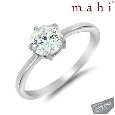 Rhodium  Ring With Swarovski Zirconia For Women FR5017 by Mahi