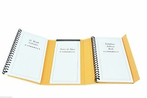 orang 6 trifold personal organizer planner notebook w magnetic