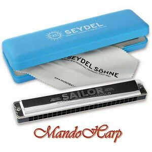 Seydel-Tremolo-Harmonica-26480-SAILOR-STEEL-Richter-SELECT-KEY-NEW
