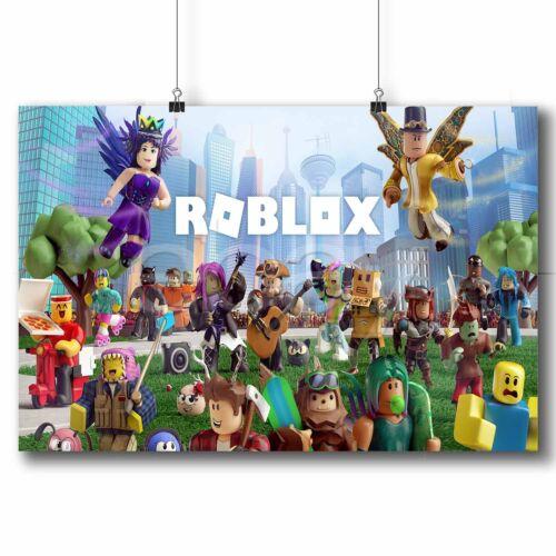 Roblox Custom Poster Print Wall Decor Personalized