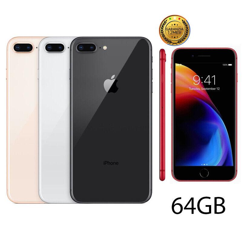 iPhone: IPHONE 8 PLUS RICONDIZIONATO 64GB GRADO A BIANCO NERO ORO ROSSO APPLE RIGENERATO