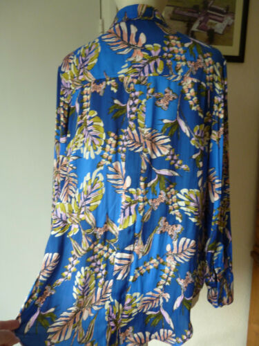 blouse People Free Shirt amp;butterfly smart casual Print palm Boho hippy WHB1HqXd
