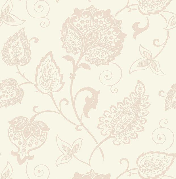 Tapete, Designtapete, Blaumenprint, rosé, puder, weiß, matt, edel, Luxus, VLIES