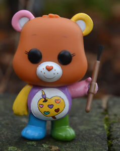 Custom-Painted-Actual-FUNKO-POP-Toy-Figure-WORK-OF-HEART-Artistic-Care-Bear