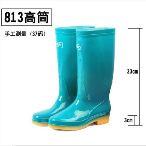 Fashion Femme Hautes Rainboot Étanche Anti-Dérapant En Caoutchouc Travail À Enfiler Chaussures