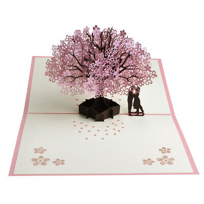 3D Up Greeting Card Birthday Party Anniversary Wedding Decor Blessing CarES