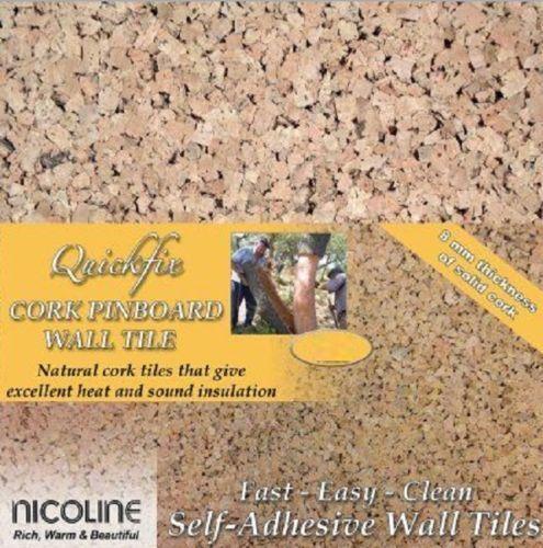 Quickfix Nicoline cork wall tiles tableau d/'affichage auto adhésif 8mm épais acheter 1 à 40+