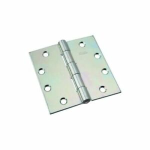 2 Stanley National Non-Removable Pin Broad Door Hinges Zinc Plated Size 4.5/""