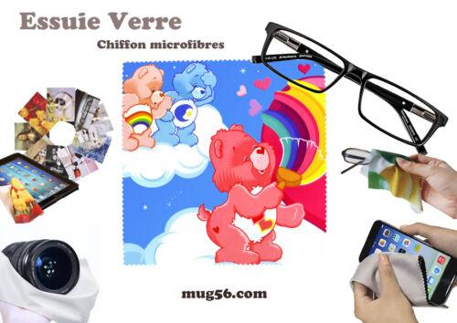 téléphone bisounours care bears 01-05 essuie verre chiffon microfibres lunettes