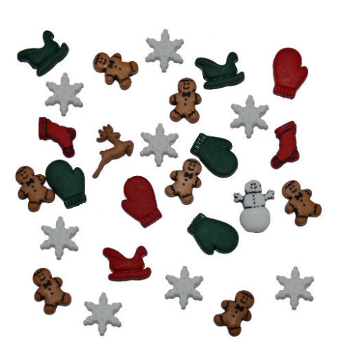 Jesse James Buttons ~ Dress It Up ~ CHRISTMAS MINIATURES 1168 Sewing Crafts