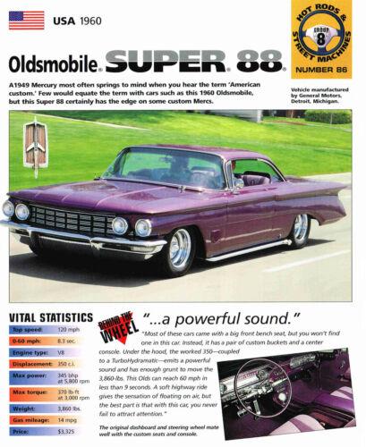 Brochure 1960 Oldsmobile SUPER 88 Custom SPEC SHEET