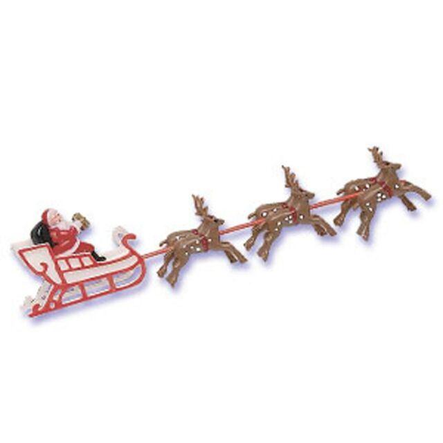 Santa Sleigh Reindeer Christmas Winter Cake Kit Topper Cake Decorating Kit