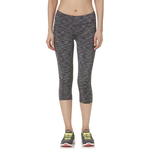 c4b51d110a8de Danskin Women's Athletic Capri Leggings MEDIUM Black Space Dyed - New w/  Tags