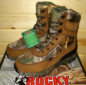 c0fd2766219 Details about 11.5 M mens ROCKY BROADHEAD RKS0269 Hunting Boots Waterproof  Insulated 1000 gram
