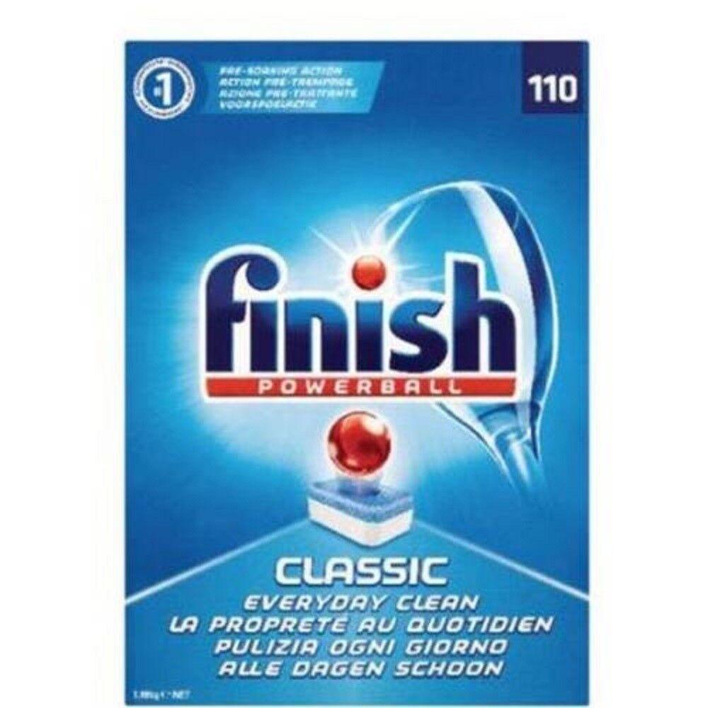 3 PZ. FINISH POWERBALL CLASSICO DETERSIVO LAVASTOVIGLIE 110 CAPSULE CAD.