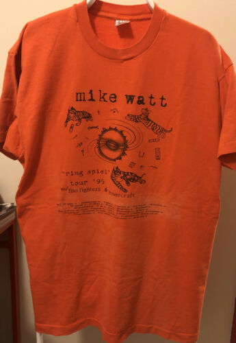 Mike Watt Vintage Shirt 1995 Ring Spiel Tour With