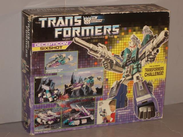 G1 Transformer Decepticon Multi Cambiador Sixshot Caja Vacía Lote Nº 2  realmente agradable