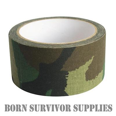Web-tex HIGH STRENGTH FABRIC CAMO SNIPER TAPE 10M - Army Camouflage DPM Wrap