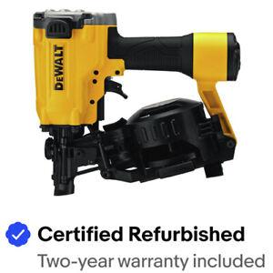 "DEWALT 15 Deg 1-3/4"" Pneumatic Coil Roofing Nailer DW45RNR Certified Refurbished"