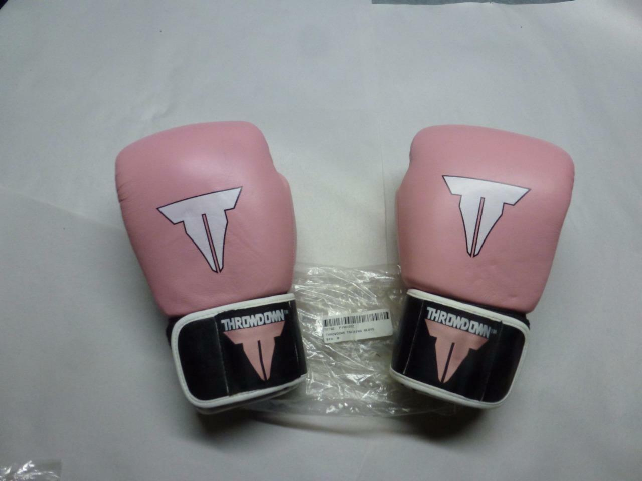 Pink Leather Women's Throwdown Boxing Training G s  12oz MMA UFC  new style