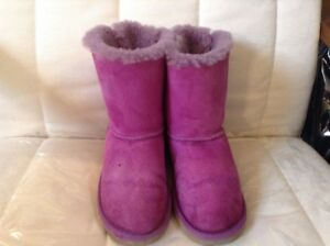 Details about UGG Girls Australia Double Bailey Bow Bloom Boots Twinface Girls 2