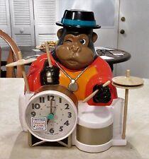Vintage Gorilla One-Man Band Alarm Clock (Please Read)