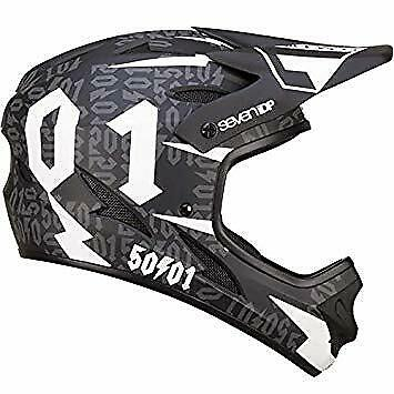 7iDP M1 Helmet 50:01 Black//White Large