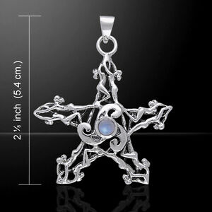 Details about  /Trinity Goddess  Sterling Silver Pendant by Peter Stone Fine Jewelry