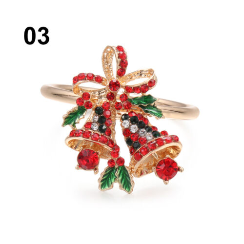 Claus Merry Xmas Mouth Ring Table Decoration Napkin Ring Christmas Supplies
