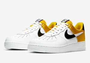 Details about Nike Men's Air Force One 1 NBA Amarillo Satin Black White  BQ4420-700
